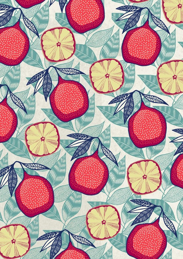 Padrão figos e limões. design. Pattern.