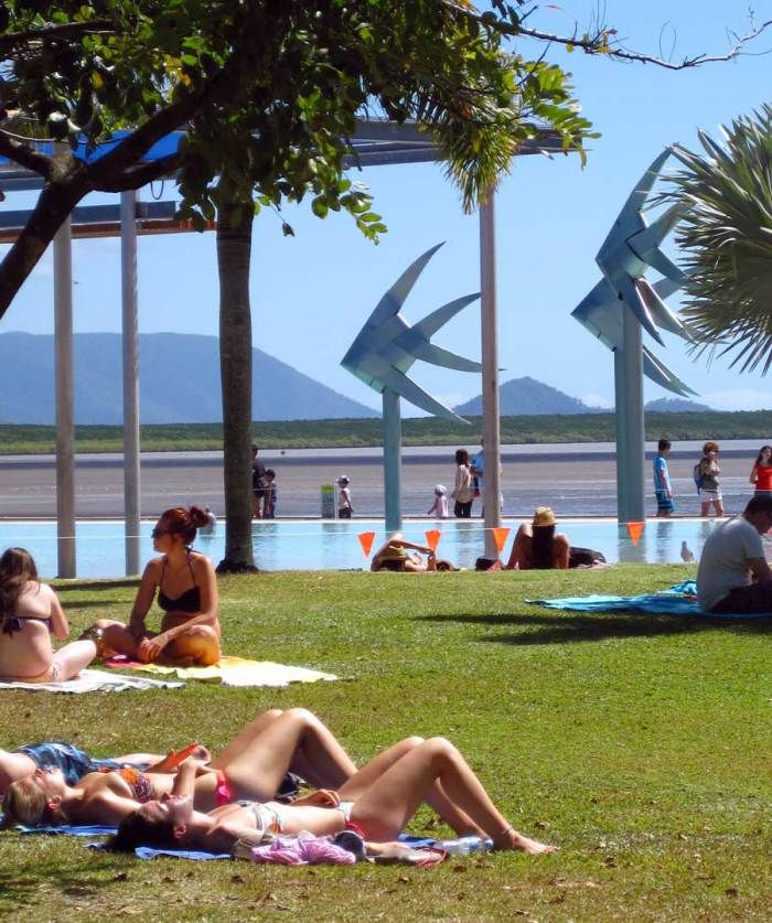 The lagoon, on the esplanade, Cairns.