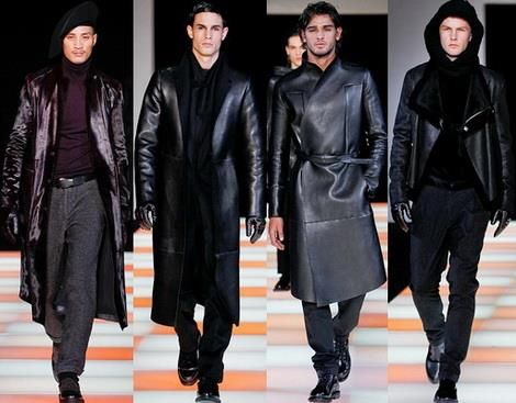 Мужские куртки плащи пальто из кожи