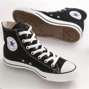 One of the earliest pair of sneakers I can remember having.   Converse All-Star High Tops - Black (Past ~1988)