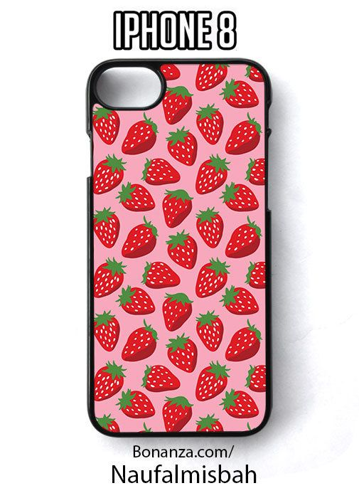 Strauberry Print Pattern iPhone 8 Case Cover - Cases, Covers & Skins