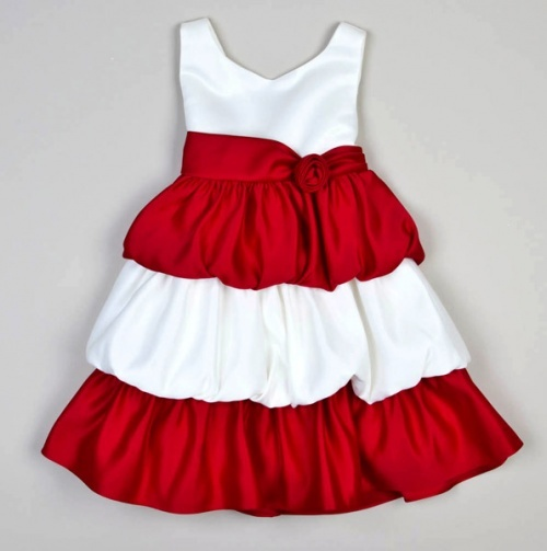 cute Christmas dress. Infant Tank Tiered Bubble Dress with a Rose.