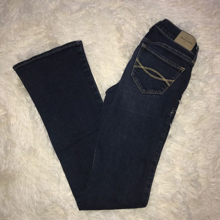 EUC Girl Abercrombie Kids Boot Cut Dark Wash Jeans Size 12 #AbercrombieFitch #BootCut #Everyday