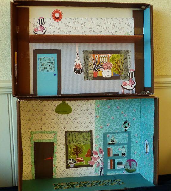 Found On Cath Kidston S Fb Page In Her Dream Room In A: Alles-vanellis: Schoenendoos Wordt Playmobiel Huis