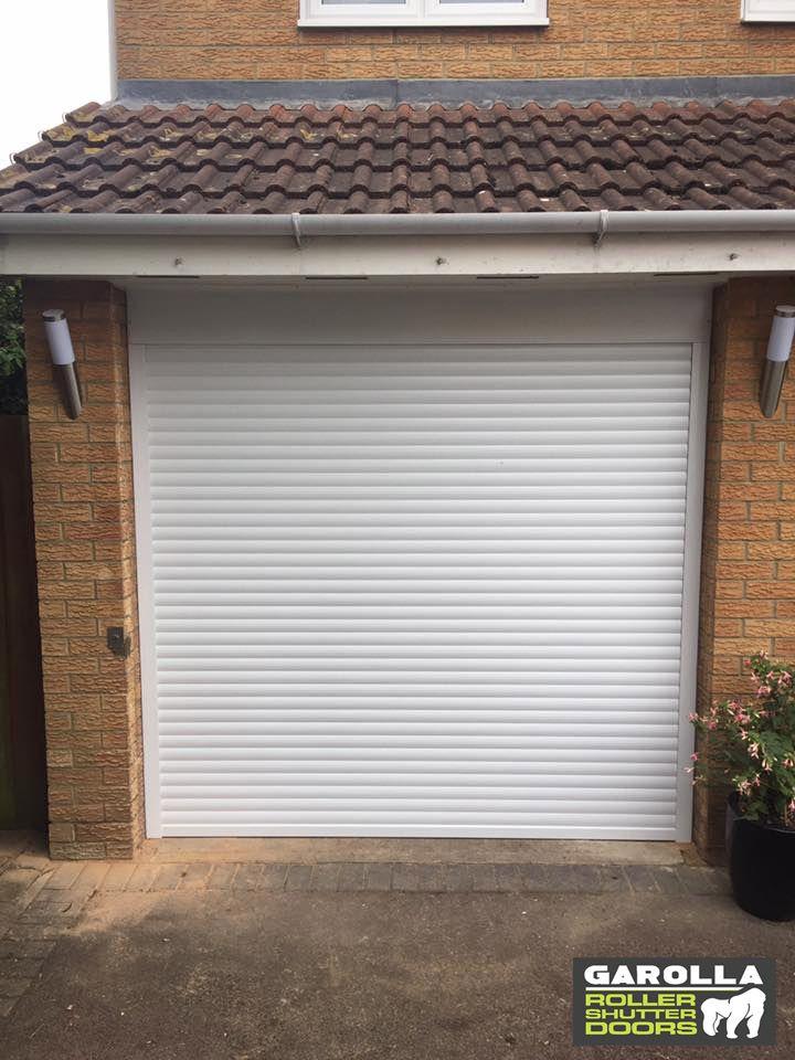 Roller Garage Door In White In 2020 Garage Door Styles Garage Doors Roller Doors