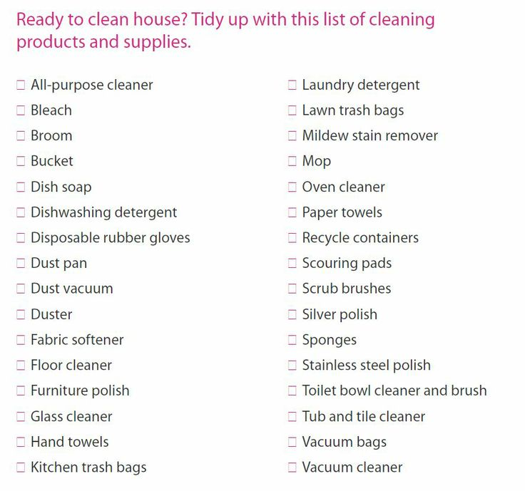Minimalist Bathroom Checklist: Cleaning Supply Checklist