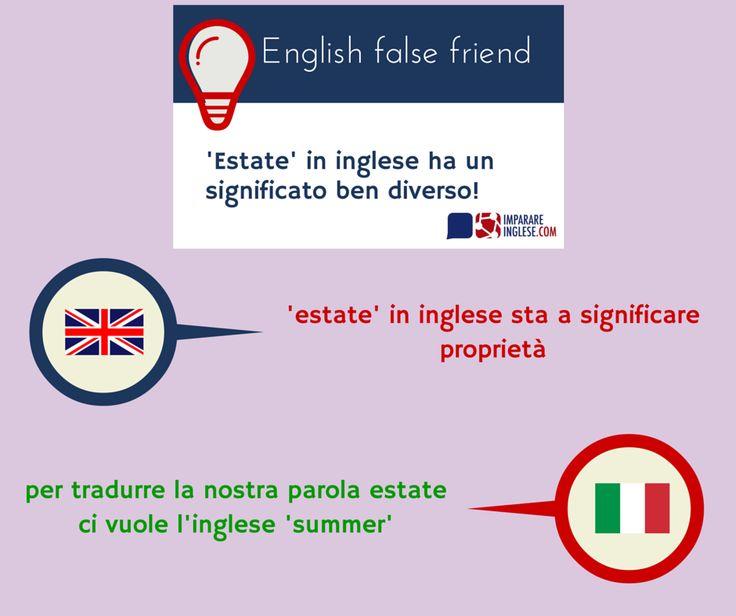 Scopriamo un nuovo falso amico in lingua inglese: la parola 'estate' infatti ha un significato ben diverso!