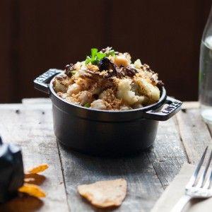 Inn's Sicilian Roasted Cauliflower w/Chickpeas: Roasted cauliflower ...