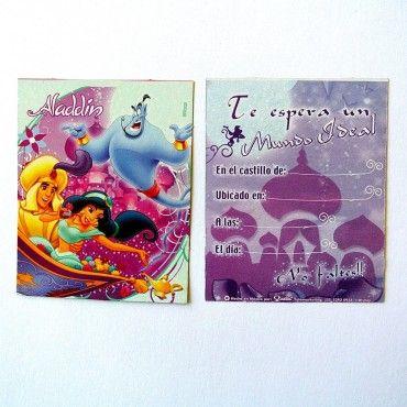 Invitaciones Princesa Jazmín de la película Aladdin - Artículos de Fiesta