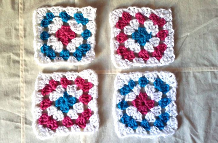 Grunny's crochet coasters /doilies/ /home decor / set of 4 /ready to ship/free shipping for European Union by KaterinakiJewelry on Etsy