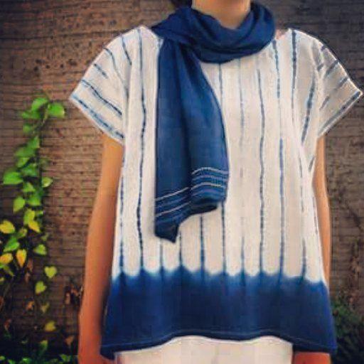 Leong Minyi (@mini_mai_studio)   Lovely shibori blouse.