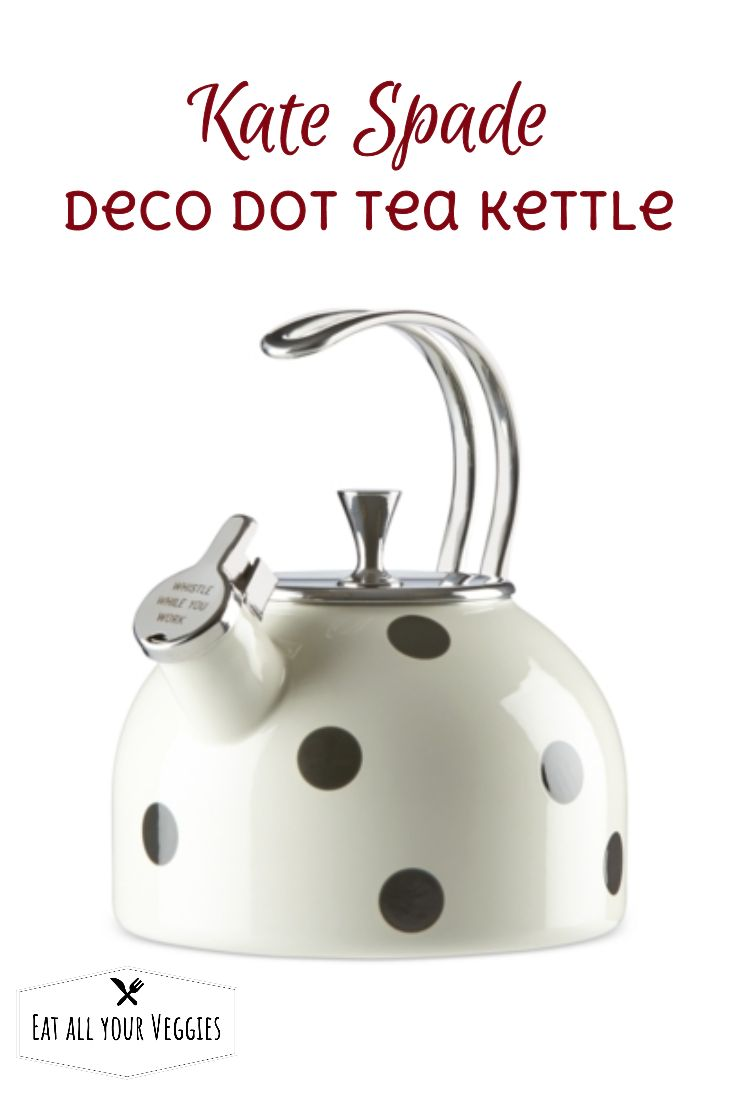 "Add a stylish note to your stovetop with this dotted kettle from kate  spade new york. Features an engraved spout with the words ""whistle while  you work"". #ad"