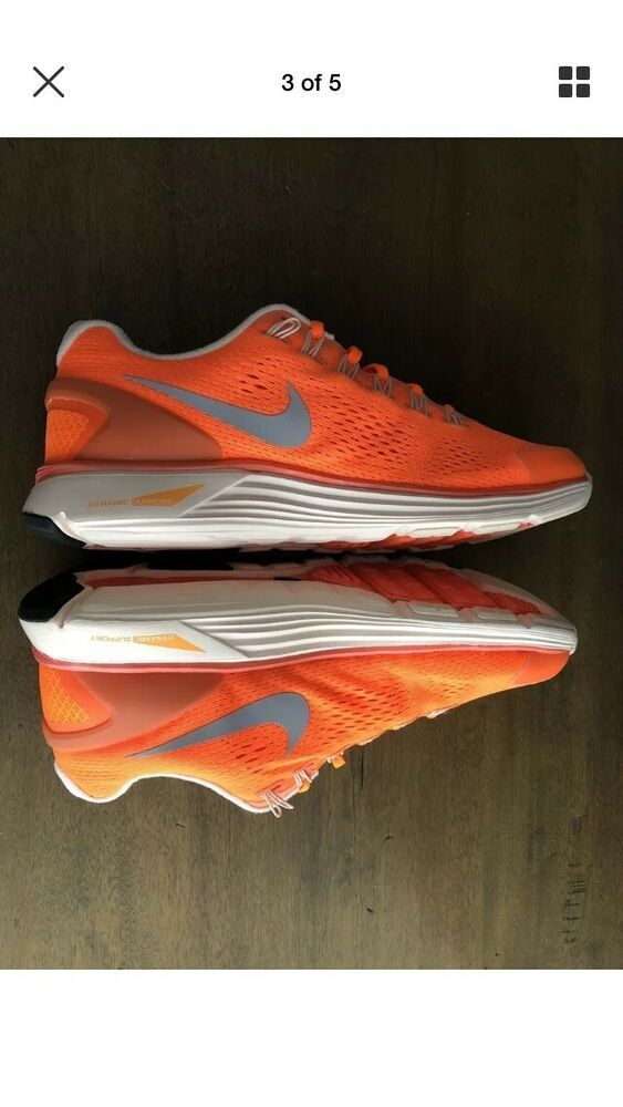 purchase cheap e4736 1a729 Nike Lunarglide 4 Mens Running 524977-908 Orange/silver US ...