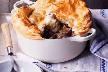 Beef and beer one-pie