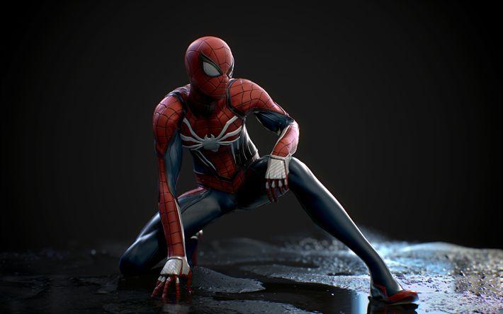 Download wallpapers Spiderman, art, superheroes, Spider-Man