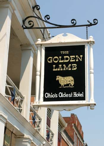 The Golden Lamb Restaurant & Inn... Ohio's Oldest hotel - Lebanon, OH.  Exquisite traditional country style fare.  My dad always took me to dinner here when he visited me in Cincinnati.