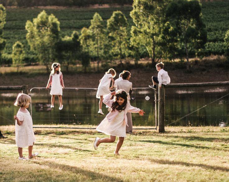 Skillogalee House Wedding  #kids playing  Read more - http://www.stylemepretty.com/australia-weddings/2013/12/13/clare-valley-australia-wedding/