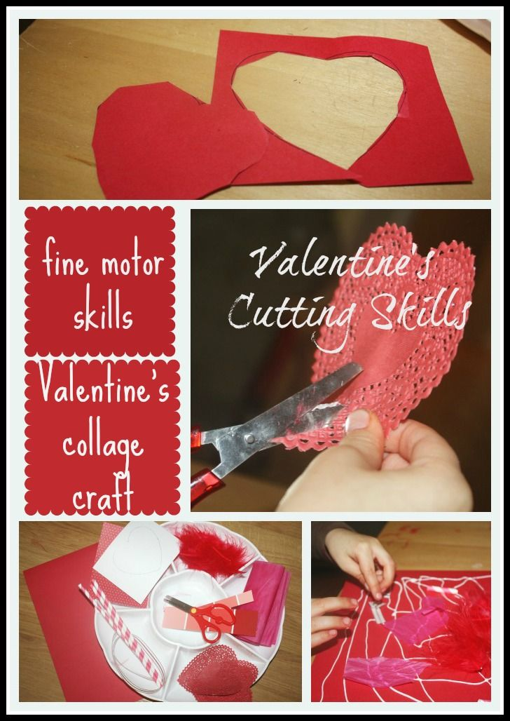 Valentine's Cutting Skills Tray & Collage Making from little bins for little hands