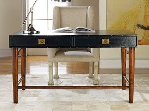 Leather Wrapped Desk