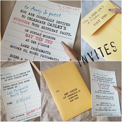 """Book Club Party Inspirations – lots of fabulous ideas for hosting a book club party (or maybe even a book exchange – get creative with your book-loving friends!).  Click the """"source"""" link in the blog to see even more ideas."""