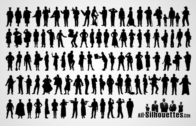People Silhouette Vector (Free) | Free Vector Archive