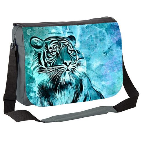 watercolor tiger Messenger Bag by ancello at zippi.co.uk
