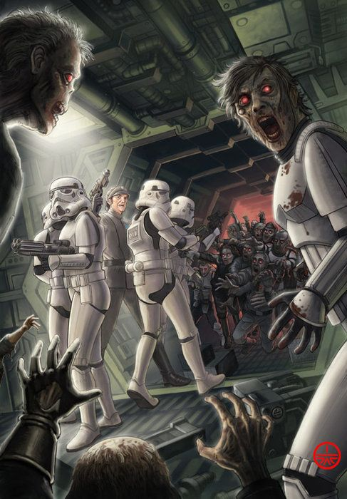 Zombie Star Wars My two favorite things. I hope that lucusarts makes a video game of this. Bioware please