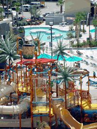 Located on the beach in the upscale 74th Avenue North area of Myrtle Beach, Sand Dunes Resort boasts an expansive variety of accommodations featuring an exciting eighteen story executive tower and a fabulous water park that is fun for the whole family.