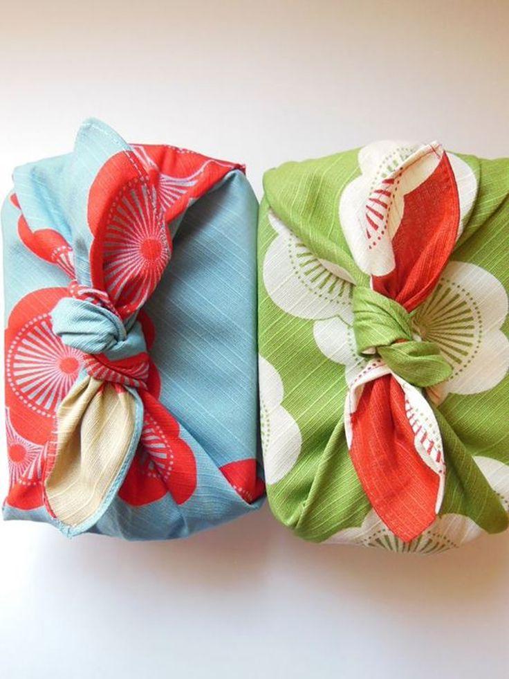 Furoshiki, o jeito de embalar presentes com tecido