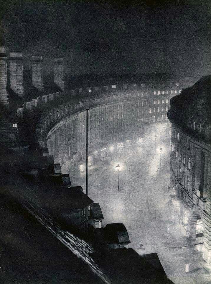 Regents street at night  c1930