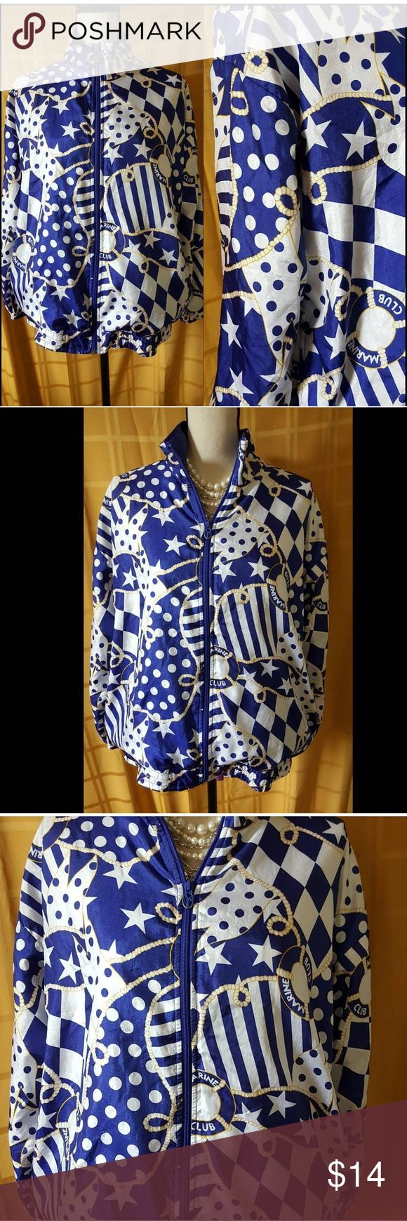 Nautical Bomber Jacket Vintage Bomber. Great condition. Side Pockets. Zip up style. Lovely nautical designs. Vintage Jackets & Coats