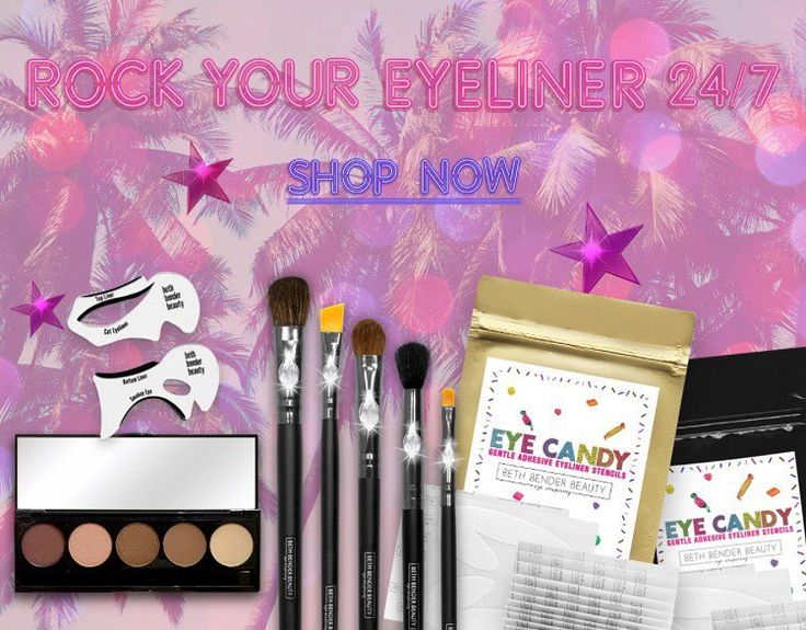 Grab our #EyeCandyStencils or our Original Cat Eye & Smokey Eye Stencils on bethbenderbeauty.com   Take 20% off with code ROCKSTAR20 ‍