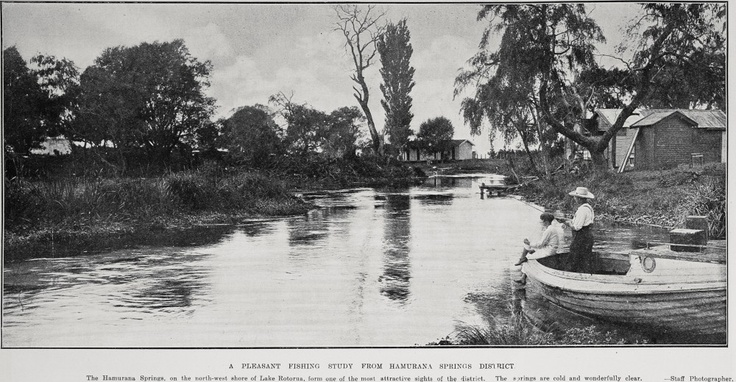 Hamurana Springs, 1927 - Another image from the Sir George Grey Special Collections, Auckland City Libraries