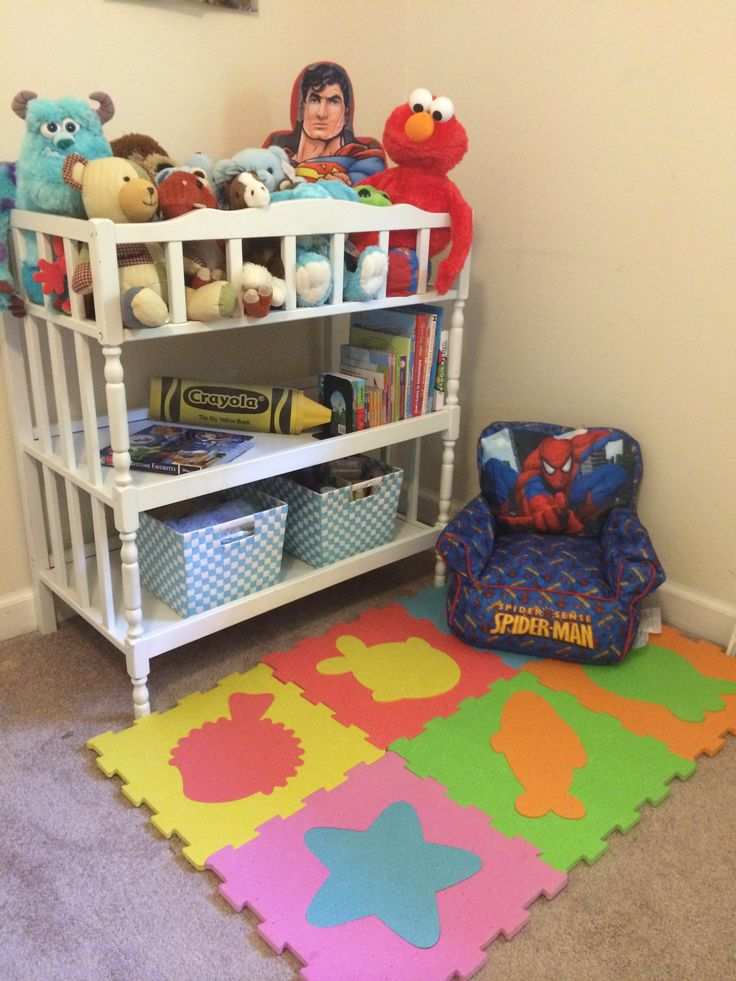 Repurposed Changing Table Reading Area Playroom Ideas