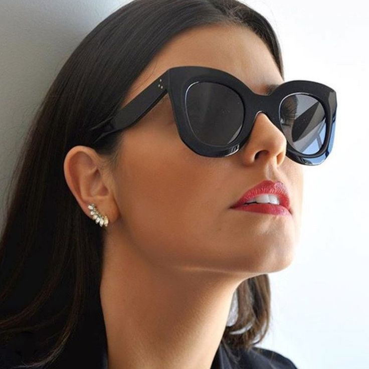Vintage Throwback Thick Rimmed Cat Eye Shades