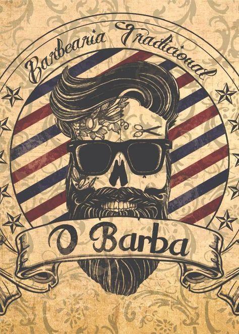 Placas Decorativas Barbearia Barber Shop Vintage 20x30cm - R$ 10,90 em Mercado…