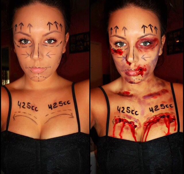 This is brilliant-plastic surgery costume