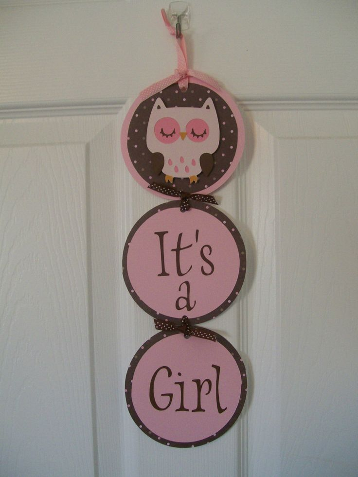 Owl Baby Shower Decorations Ideas | ... Pink and Brown Owl Shower Banner- Girl Owl Baby Shower Decorations