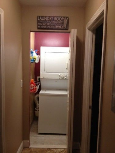 Closet laundry room makeover - what you can do with just a TINY bit of space... And it only matters how it looks to you! When you put the work into it, it makes washing clothes SO much more enjoyable!!
