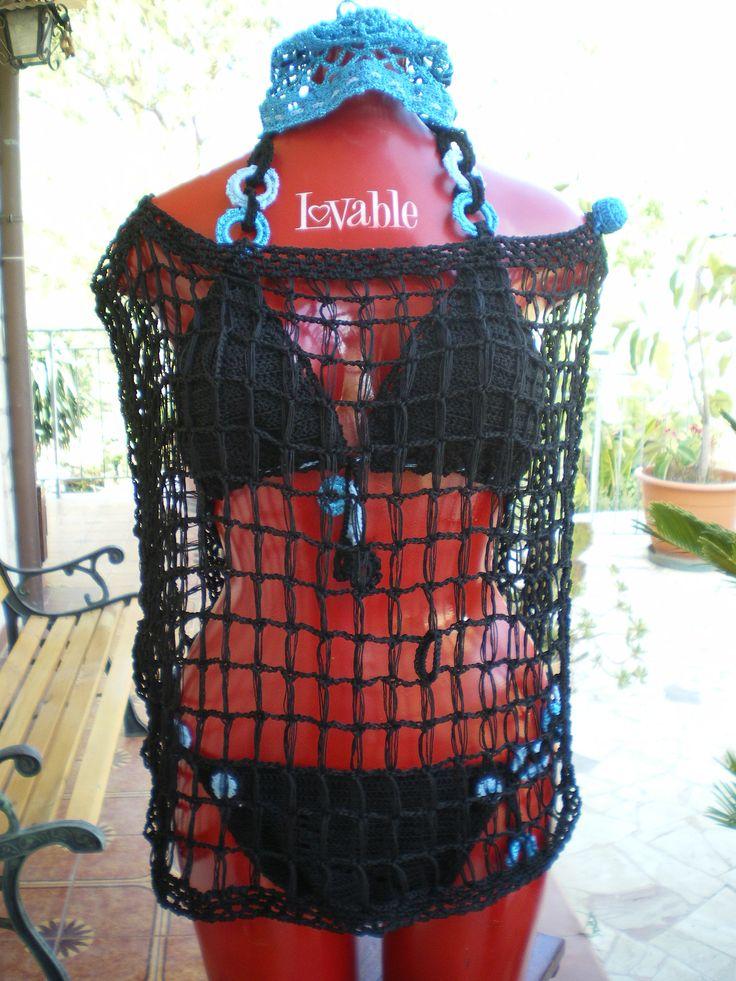 | SKY Circle :bikini interamente uncinetto | copricostume coord. al bikini Sky Circle  COD. 201