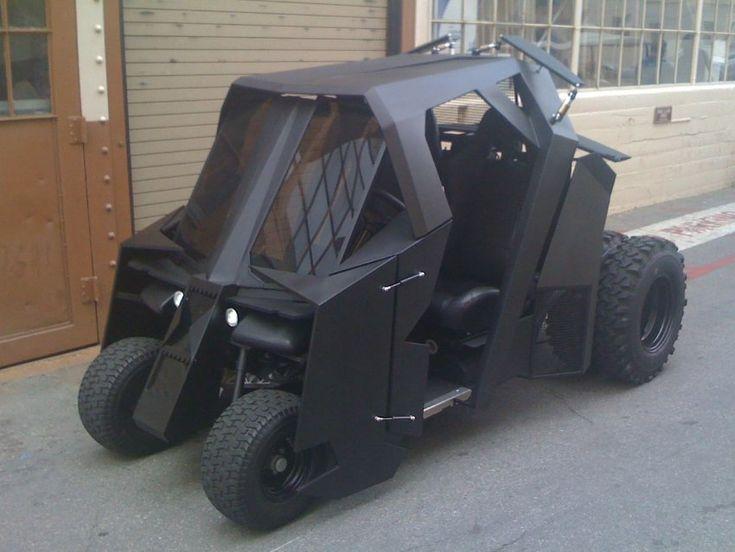 La #Batmobile façon voiture de golf – Tumbler par Marc Irvine