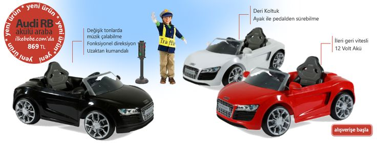 Sunny Baby W458QHT Audi RB Akülü Araba http://www.ilkebebe.com/Akulu-Arabalar/Sunny-Baby-W458QHT-Audi-RB-Akulu-Araba-Siyah-28093.aspx  Değişik tonlarda müzik çalabilme Fonksiyonel direksiyon Uzaktan kumandalı Deri Koltuk Ayak ile pedalden sürebilme İleri geri vitesli 12 Volt Akü