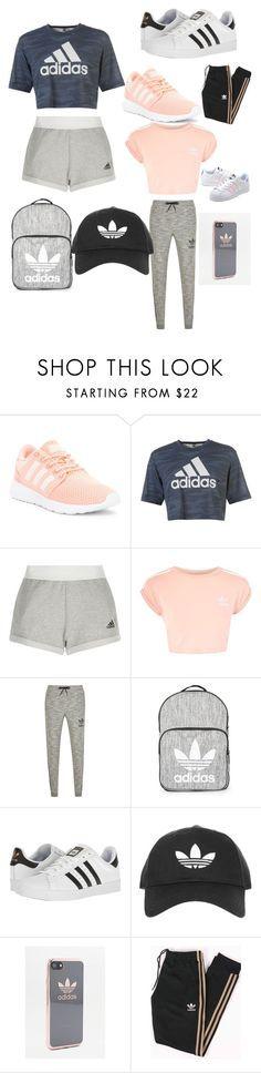 """""""Adidas looks"""" by taliiiiaaaaaaaa ❤ liked on Polyvore featuring adidas, Topshop and adidas Originals"""
