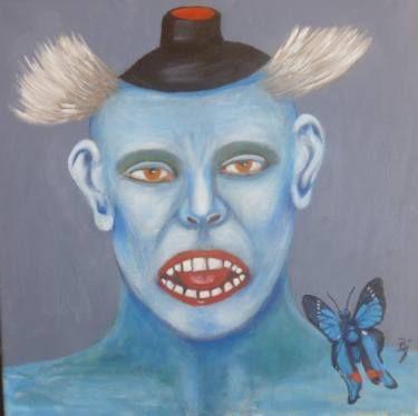 """Saatchi Art Artist Bjoern Beniston; Painting, """"HALLO JACK"""" #art"""