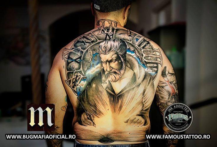 Uzzi from B.U.G. Mafia .Dragos Macavei. Famous Tattoo Studio. Bucharest Romania