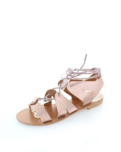 Růžovo-zlaté sandály Marina