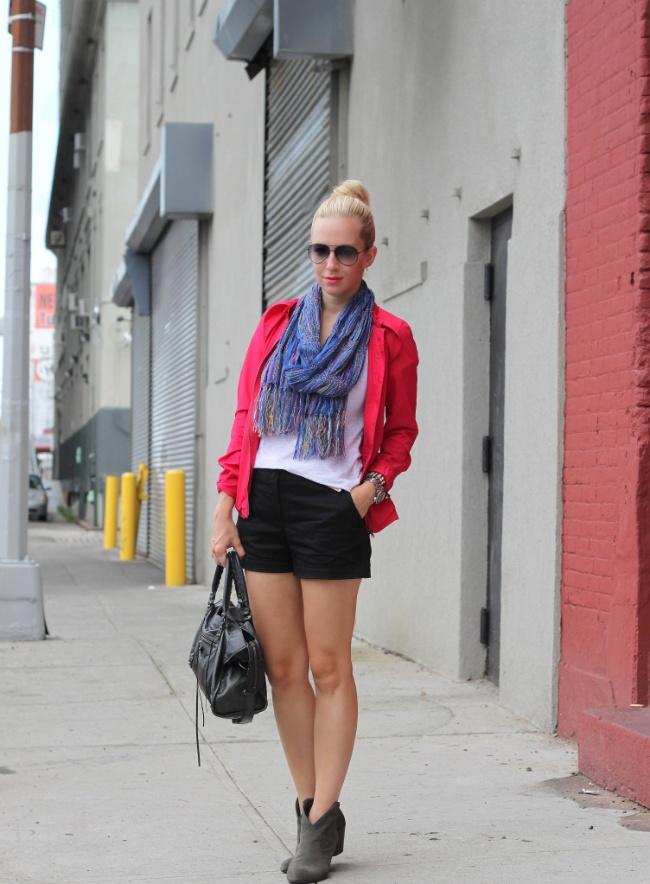 Edgy Summer Look: Ash Boots, Brooklyn Blonde, 2011 Zara, Beauty, Scarf