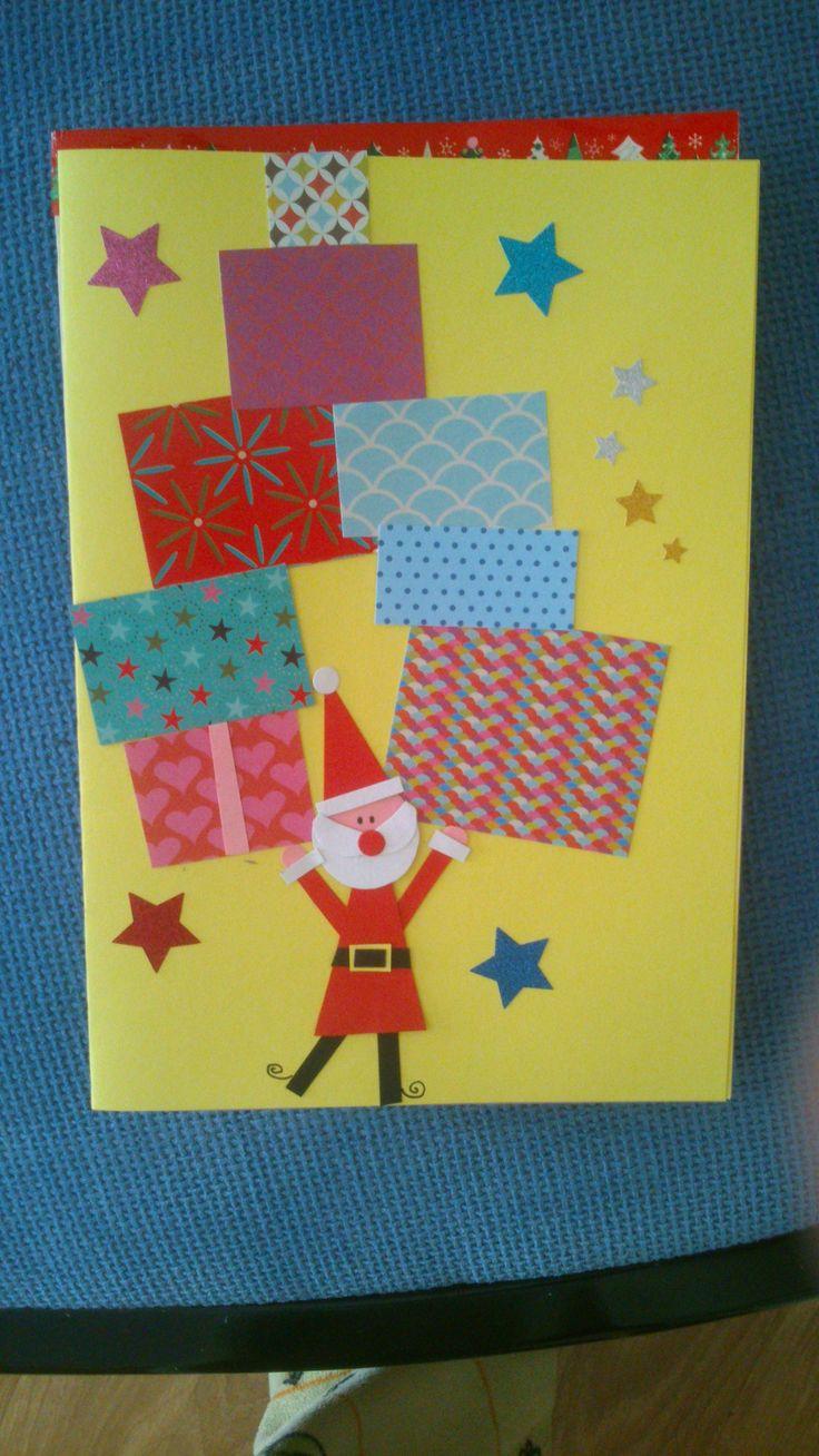#navidad #papánoel #tarjeta #felicitación #regalos #scrap #washitape #estrellas