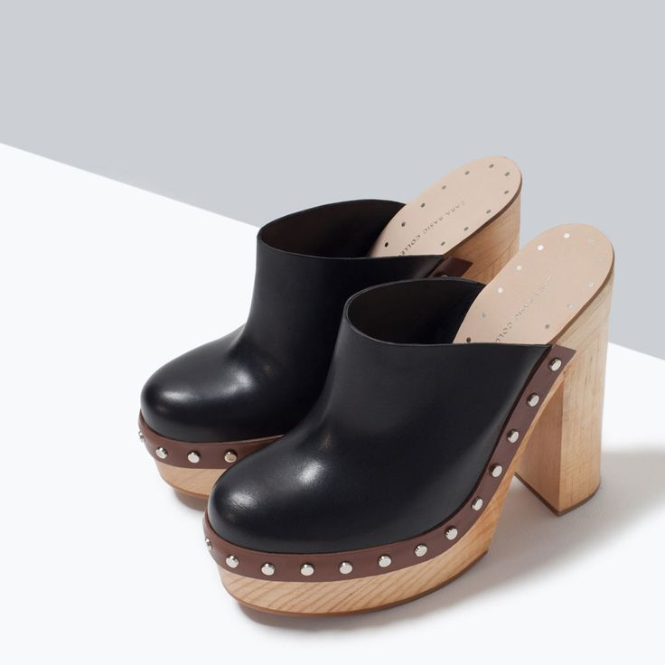 LEATHER CLOGS-Sandals-Shoes-WOMAN | ZARA United States