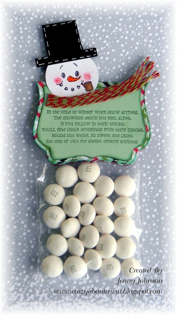Created by Jenny using Snowman Poop, Fancy Topper Die and 3x4 bag. http://jadedblossom.bigcartel.com/